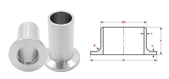 ASME B16.9 Long Stub End Dimensions
